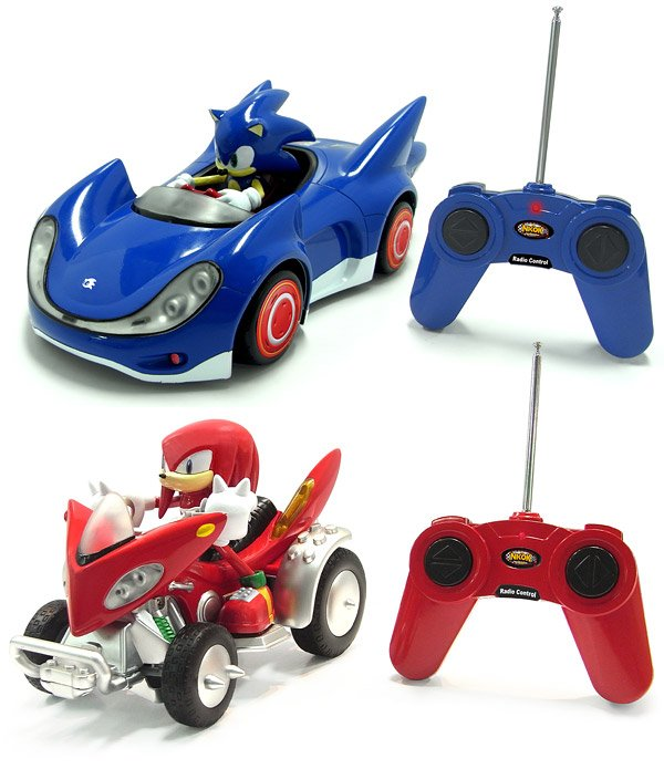 sonic and knuckles rc cars
