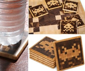 Space Invaders Coasters: Aliens Protect Your Coffee Table