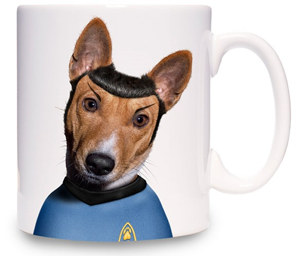Creepy Mr. Spock Doggie Mug: Live Long and Walkies