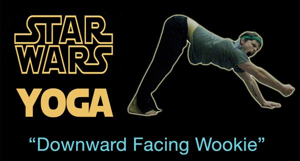 star wars yoga downward wookiee