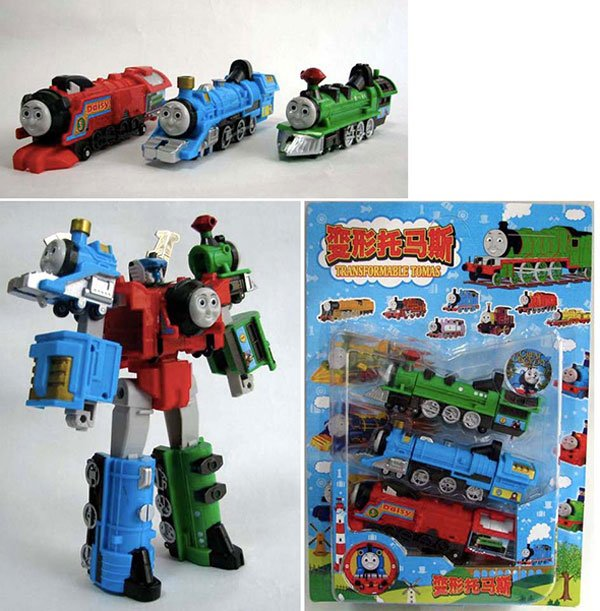 transformable thomas the tank knockoff