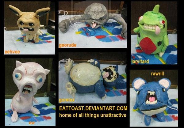 ugly pokemon by eattoast 2