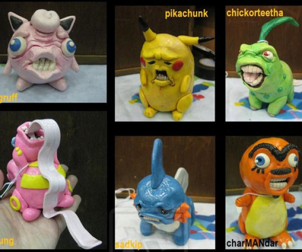 Ugly Pokemon Sculpture: Wanna Punch 'Em All