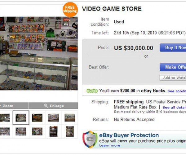 Own Your Own Video Game Store