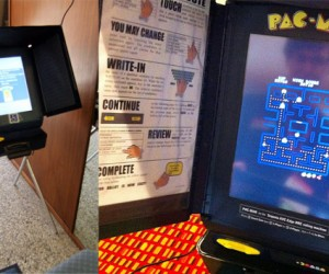 Voting Machine Serves a Higher Purpose: Pac-Man