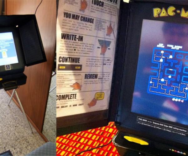 Voting Machine Serves a Higher Purpose: Pac-Man