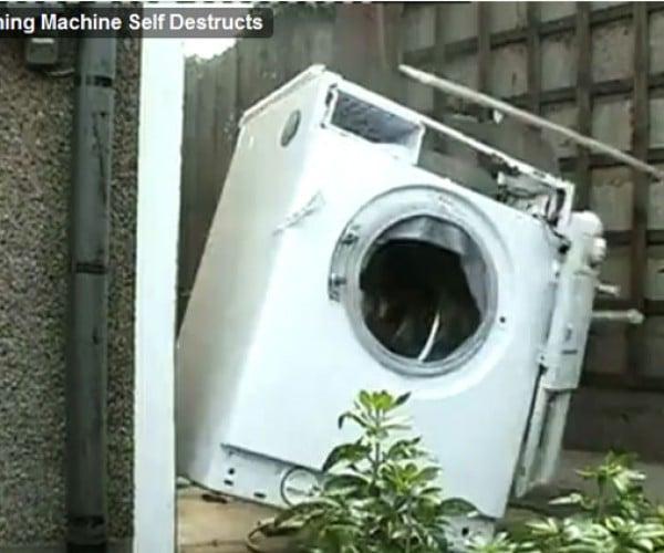 Washing Machine Cleans Bricks