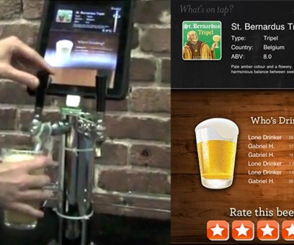 Yelp'S iPad Kegerator Serves the Dorkiest Beer Ever