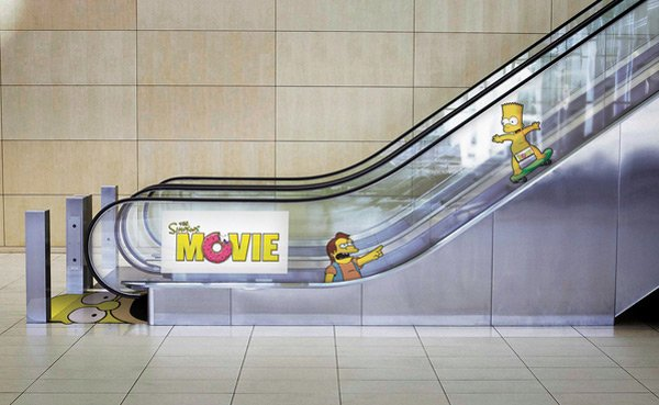 homer simpson escalator donuts cartoon