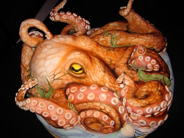 Cake Artist Highland : 200lb. Octopus Cake: Cthulhu Would Approve