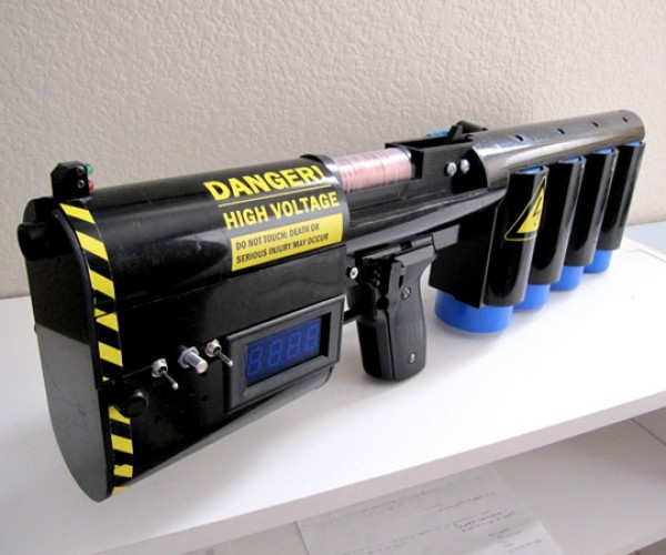 DIY Coilgun Does Serious Damage With Electricity and Magnets