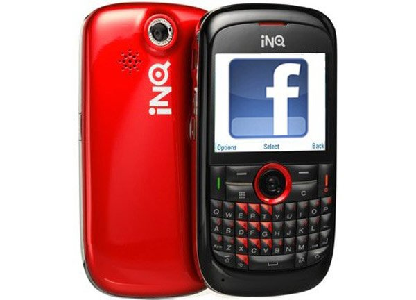 facebook inq mobile cell phone app social networking