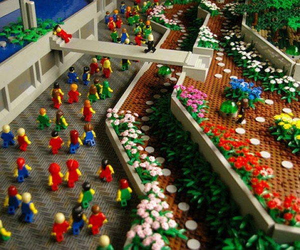 Minifigs Run Through LEGO Logan'S Run
