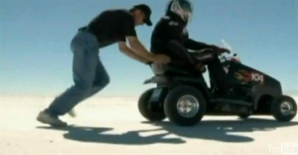 bobby cleveland world fastest lawnmower