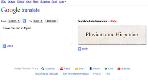 latin google translate fun swearing