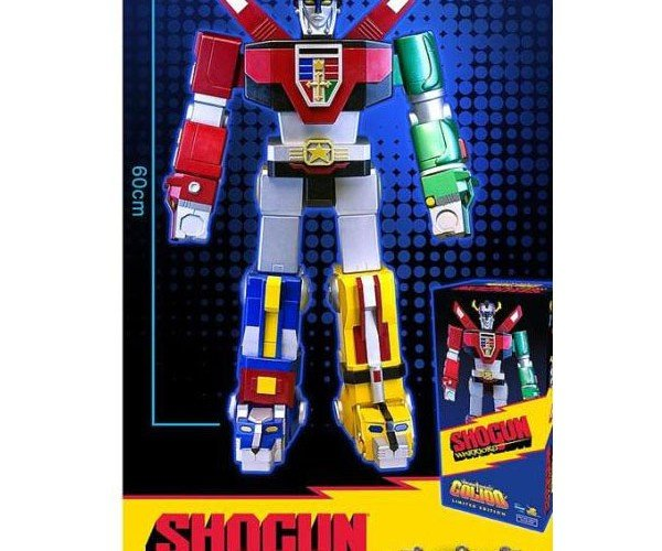 Voltron Go Lion 24″ Shogun Warrior Doesn'T Disassemble Into 4.8″ Lions
