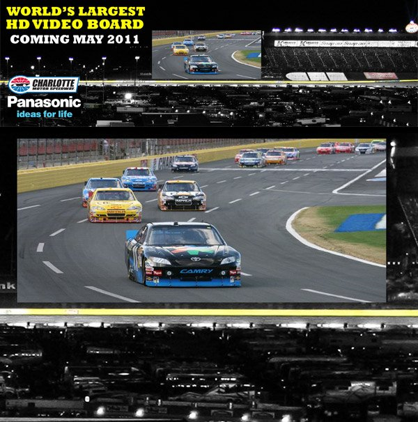 charlotte motor speedway led hd screen