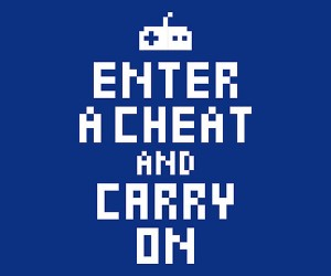 enter a cheat and carry on poster 300x250