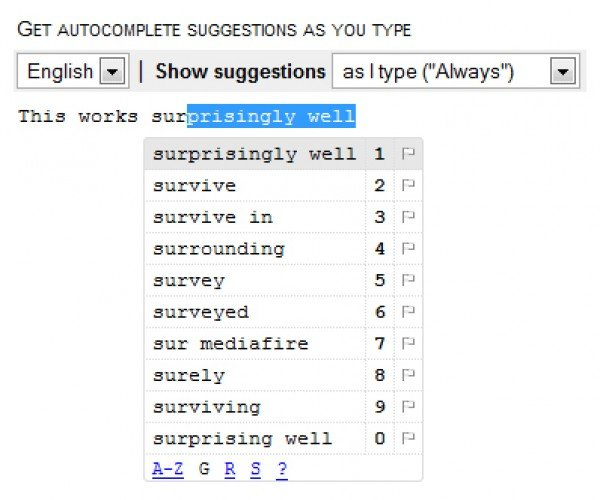 Google Scribe: You Autocomplete Me