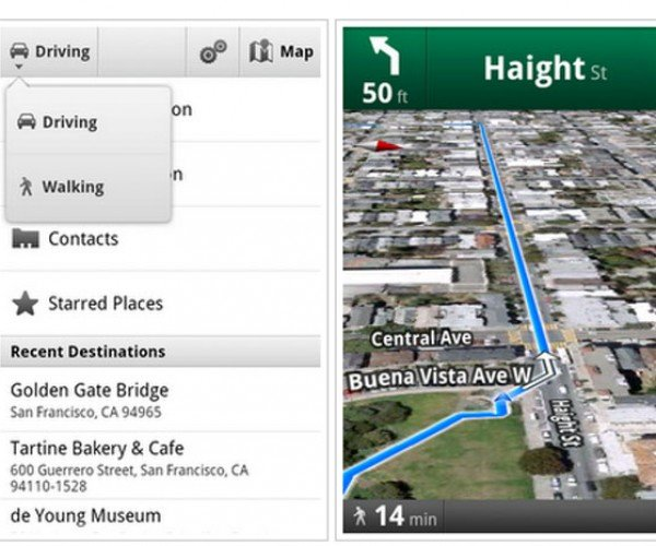 Google Offers Beta Walking Navigation Feature