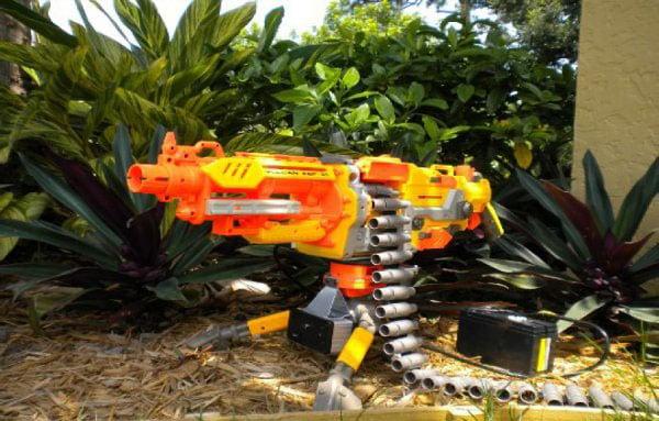 heat seeking nerf vulcan blaster gun