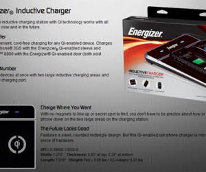 Energizer Unveils Wireless Inductive Charger for Blackberry and iPhone