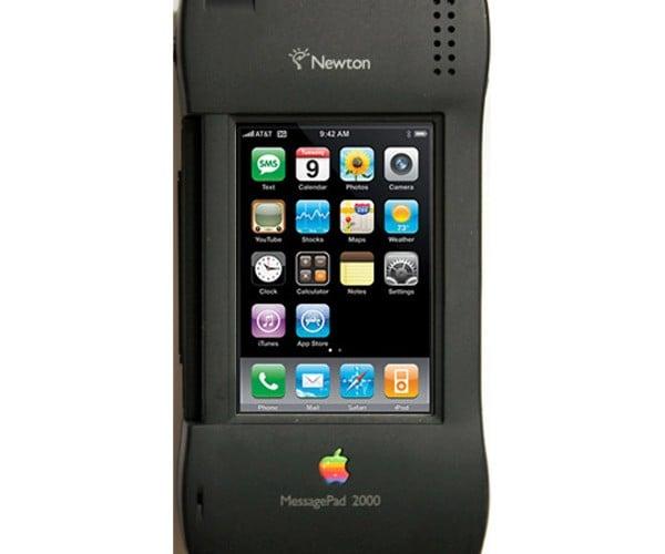 Newton iPhone Casemod: Past Swallows Present