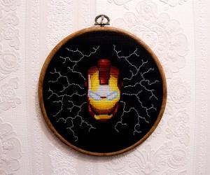 Iron Man Cross-Stitch: Proof That Tony Stark Can be Art