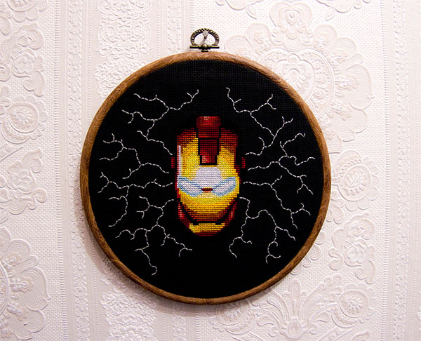 iron man cross stitch