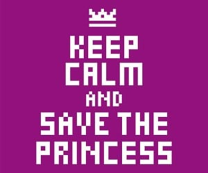 keep calm and save the princess poster 300x250