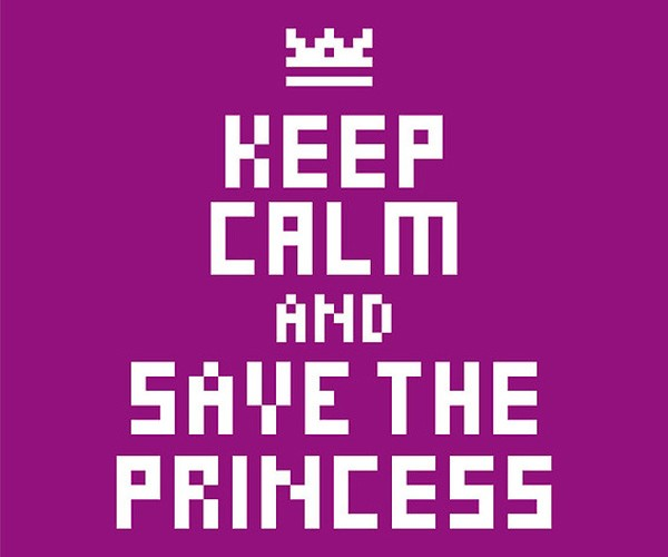 keep calm and save the princess poster