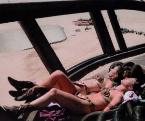 Princess Leia Lounges in Her Bikini