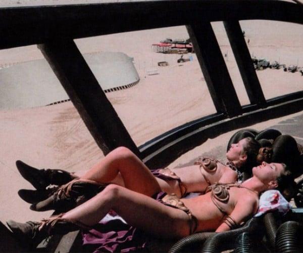 Princess Leia Lounges in Her Bikini