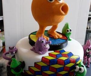 Q*Bert Cake: Omgwtf @!#?@!?
