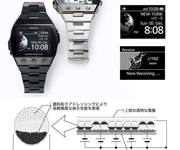 Seiko Active-Matrix Epd Watches Offer 300dpi Display