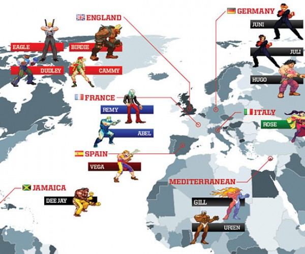 street fighter world map 3