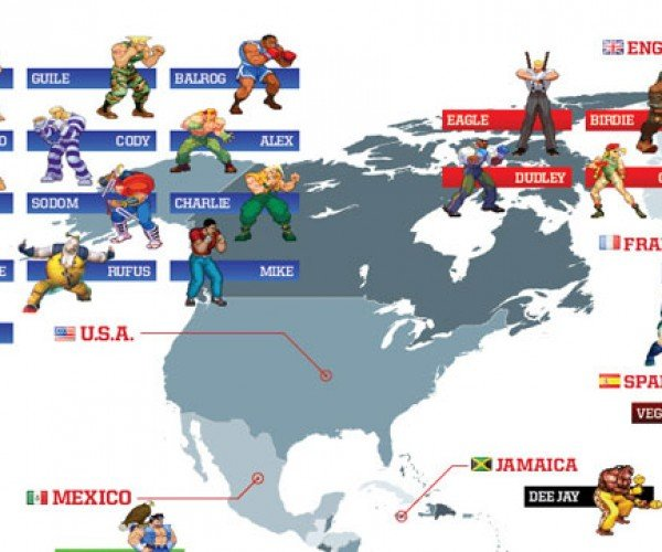 street fighter world map