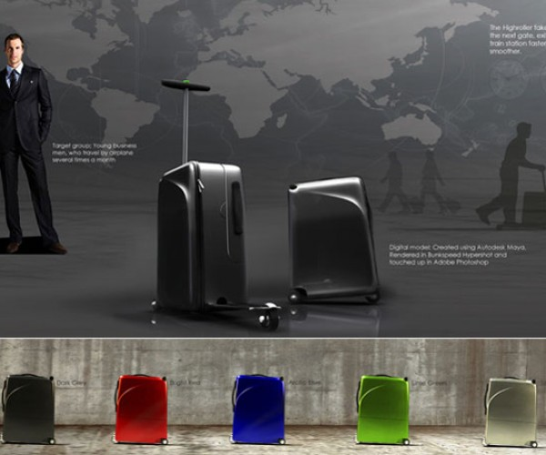 Titan High-Roller Suitcase Combines Carry on and a Scooter Making Business Types Look Like Dorks