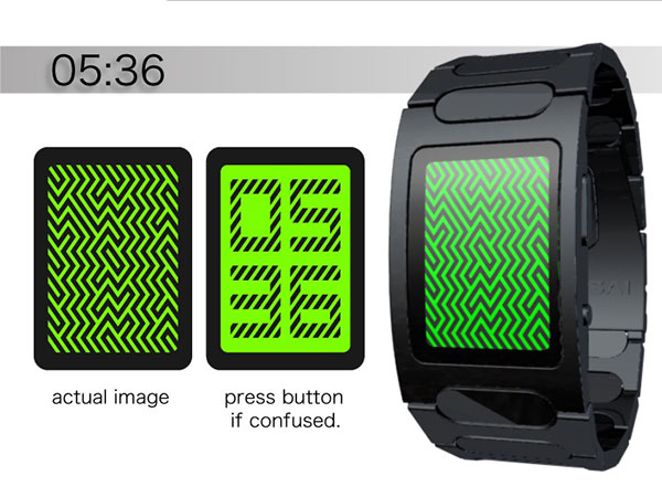 tokyoflash optical illusion concept watch 3