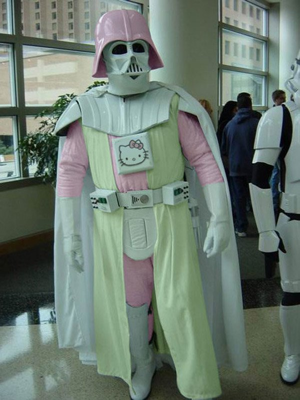 darth vader hello kitty white star wars costume