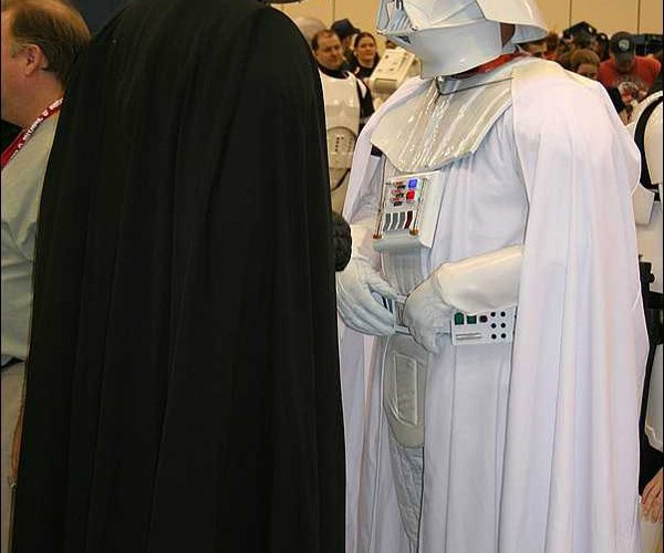 darth vader white star wars costume
