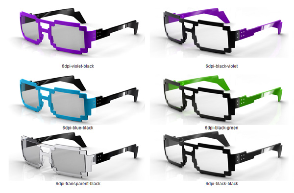 samal retro glasses 5dpi 6dpi pixellated