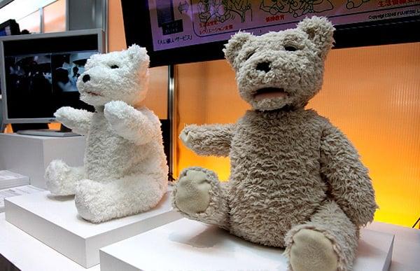 robots teddy bear fujitsu japan