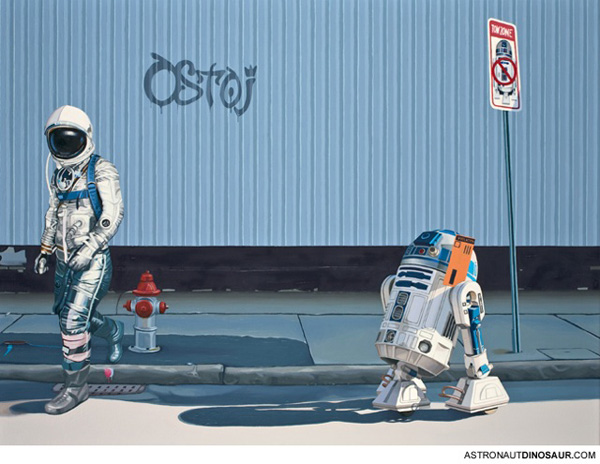 lonely astronaut scott listfield r2d2, star wars