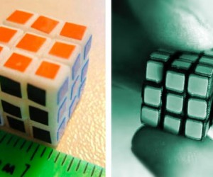 Russian Makes, Then Solves the World's Smallest Rubik's Cube