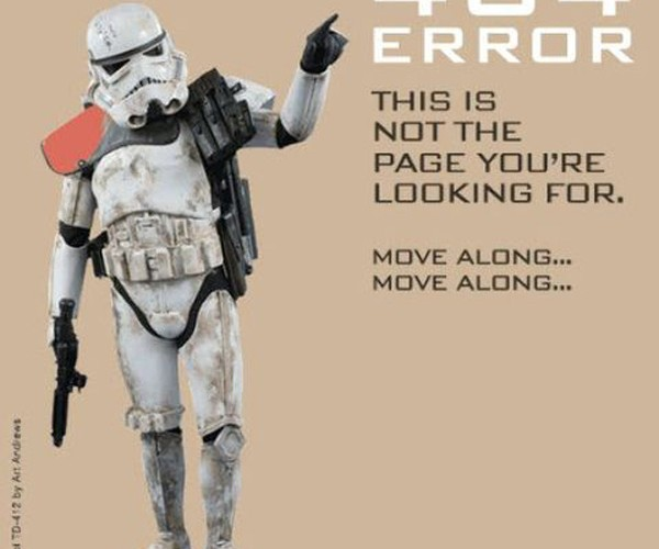 Stormtrooper 404 Error: No, This Isn'T the Page You'Re Looking for