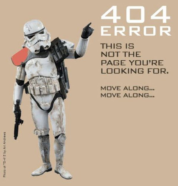 stormtrooper error 404 star wars sandtrooper