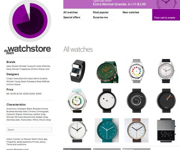 Dezeen Opens Watch Store: Cool and Funky