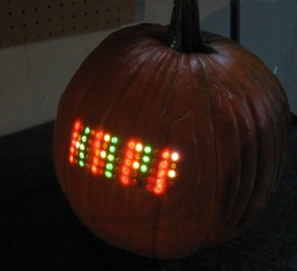 led jack-o-lantern halloween diy make