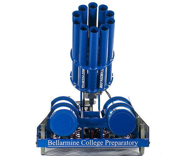 bellarmine college team 254 t-shirt cannon robot 2